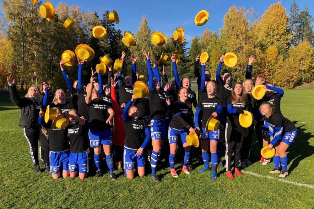 Fulltid: Norrby SK nådde målet och är nu tillbaka i division 2