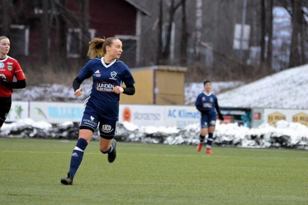 Pernilla tremålskytt i Östervåla IF:s Upplandscupspremiär