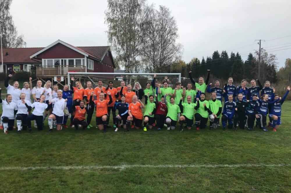 Norrby SK:s U-lag vassast i regnet på Norrbyliden