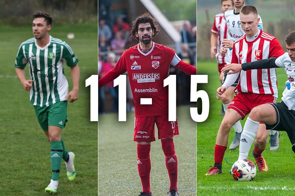 Sala-Heby Fotbolls lista - placering 11 till 15!