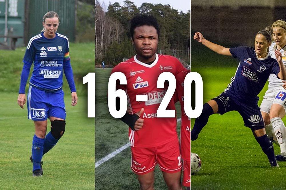 Sala-Heby Fotbolls lista - placering 16 till 20!