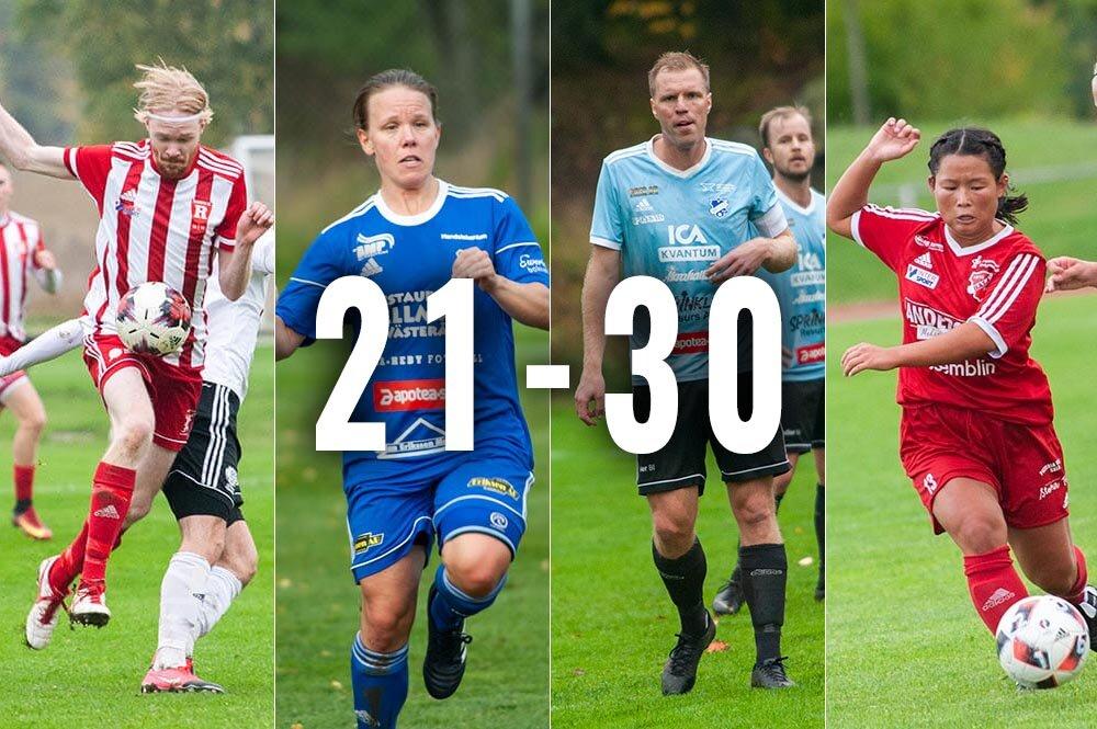 De hetaste lokala spelarna i år - plats 20 till 30!