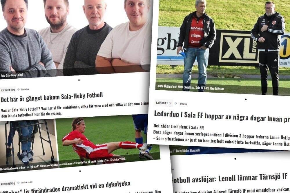 Fyra år med Sala-Heby Fotboll - här är de 50 mest lästa artiklarna