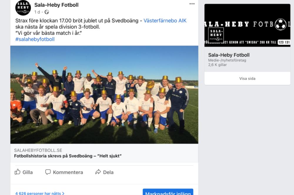 Det var många som ville gratulera Västefärnebo AIK